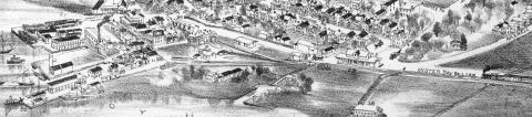 Oyster Bay, New York in 1900 Drawing