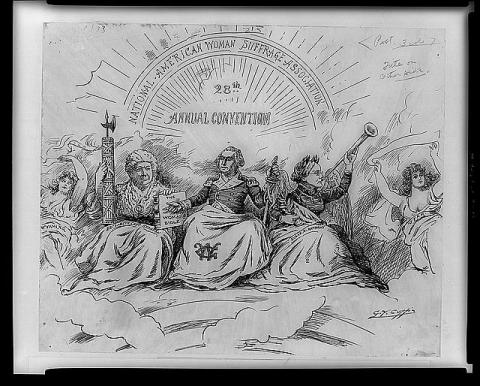 Washington Post Political Cartoon on Women's Suffrage Civil Rights Visual Arts American History Law and Politics Social Studies