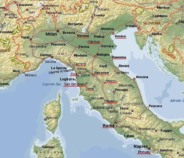 Map Of Florence Italy Map   Florence and Siena, Italy Map Of Florence Italy