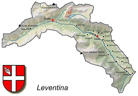 Leventina Valley Its Location