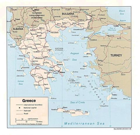 Map of Greece Social Studies Visual Arts Geography