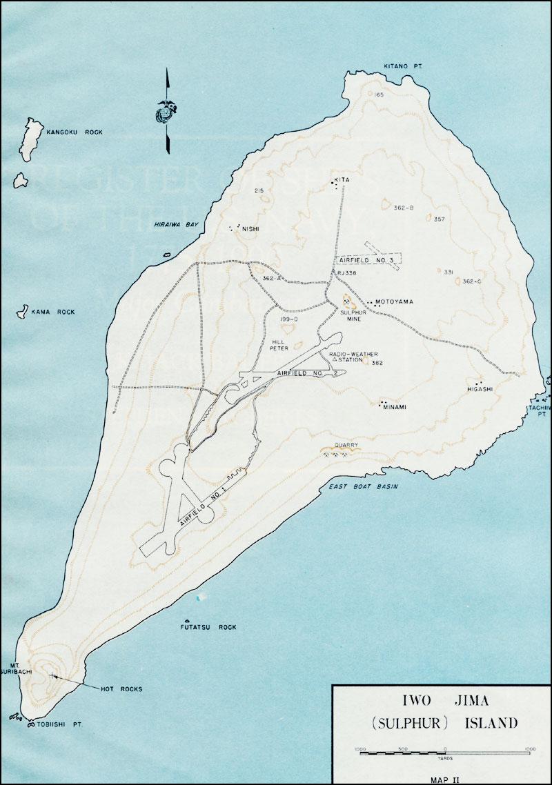 of sulphur island - map of sulphur island