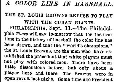 BASEBALL'S COLOR LINE (Illustration) American History African American History Censorship Civil Rights Famous Historical Events Famous People Geography Social Studies Trials Sports