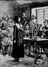 Anne Hutchinson at trial