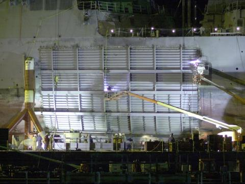 USS Cole - Pascagoula Shipyard Repairs American History Famous Historical Events Tragedies and Triumphs Disasters