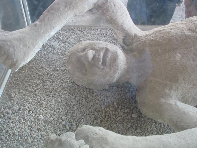 Pompeii Victim Covered with Volcanic Ash  Pompeii Victim ...