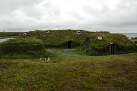 Vikings in North America Reconstructed Sod Homes