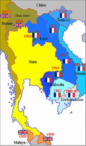 French Indochina - Map Locator World History Geography Social Studies