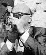 Zapruder Filming with His Camera American History American Presidents Social Studies The Kennedys Biographies