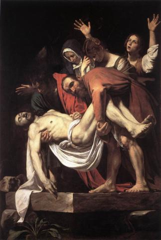 Jesus is Buried - by Caravaggio Philosophy World History Visual Arts