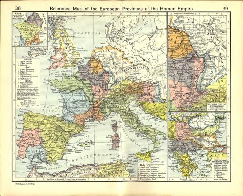 European Provinces of Rome - Map Ancient Places and/or Civilizations World History Geography