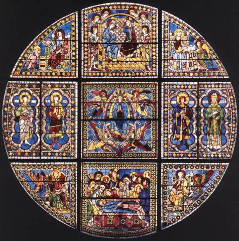 Siena - Duccio Stained-Glass Window, c. 1288 Medieval Times Philosophy Visual Arts