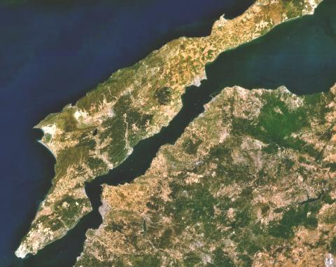 Hellespont - An Aerial View of the Dardanelles Geography Ancient Places and/or Civilizations History Social Studies World History