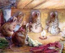 Mice Sewing in