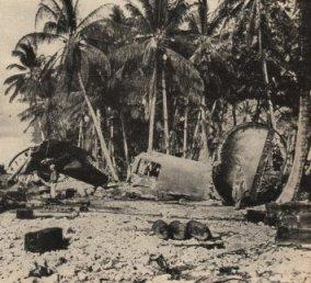 Destroyed B-24s at Funafuti American History Disasters Geography World War II Tragedies and Triumphs