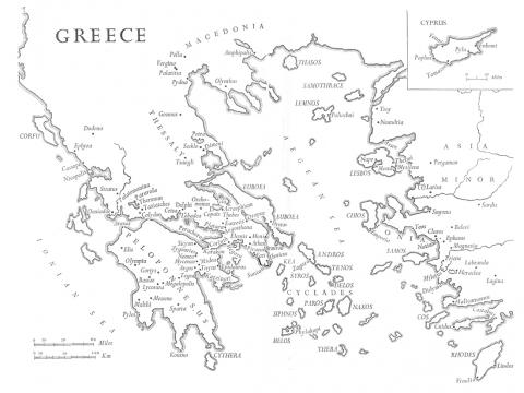 Map Depicting the Location of Elis on the Peloponnesus  Ancient Places and/or Civilizations Biographies Fiction Tragedies and Triumphs Legends and Legendary People Geography