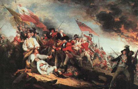 Death of General Warren at the Battle of Bunker Hill