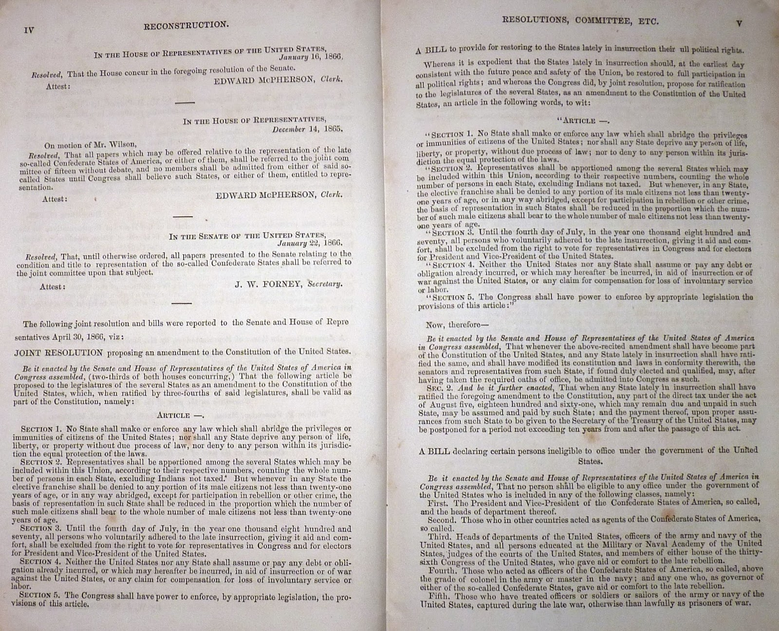 an analysis of the fourth and fourteenth amendment to the united states constitution The court did not rely on the twenty-fourth amendment, instead applying a fourteenth amendment equal protection clause analysis using a framework it had established in cases such as anderson v celebrezze (1983), rejecting ohio's early filing deadline for presidential candidates, and burdick v.