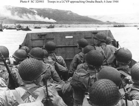 Troops on the Landing Craft World War II Famous Historical Events Geography