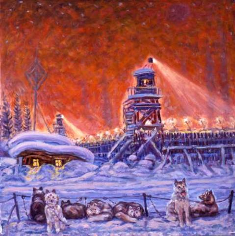 Getman Painting - The Guards Kennel Civil Rights Famous Historical Events Visual Arts