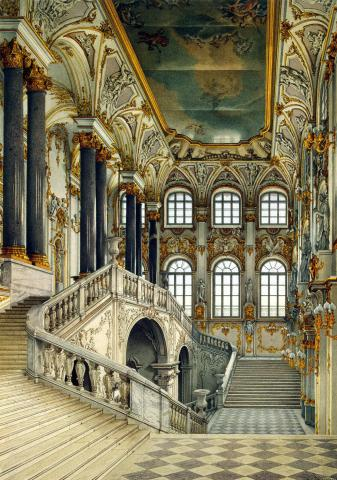 Winter Palace at St. Petersburg Geography Russian Studies World History Visual Arts