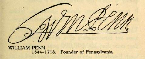 William Penn Signature