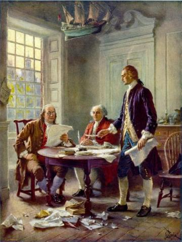 Jefferson, Franklin and Adams - Drafting the Declaration American Revolution American History Famous Historical Events Law and Politics Visual Arts