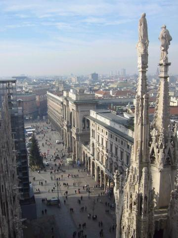 Milan - View of the City Geography History Social Studies Visual Arts