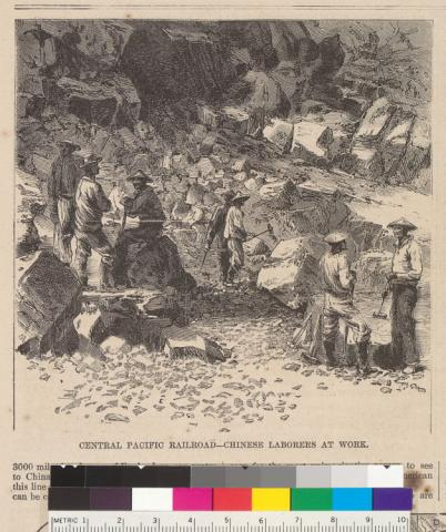Drawing - Chinese Laborers at Work Ethics Nineteenth Century Life American History Famous Historical Events Visual Arts