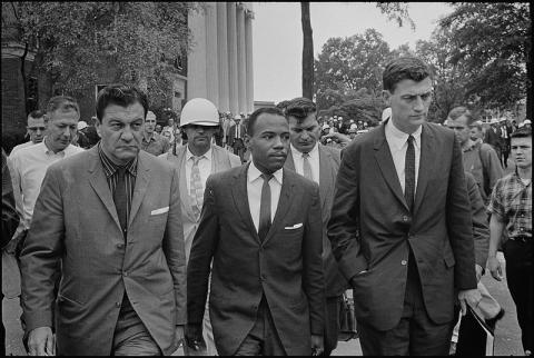James Meredith at Ole Miss - 1962 (Illustration) Civil Rights African American History Famous People American History American Presidents Biographies Famous Historical Events Government Social Studies The Kennedys