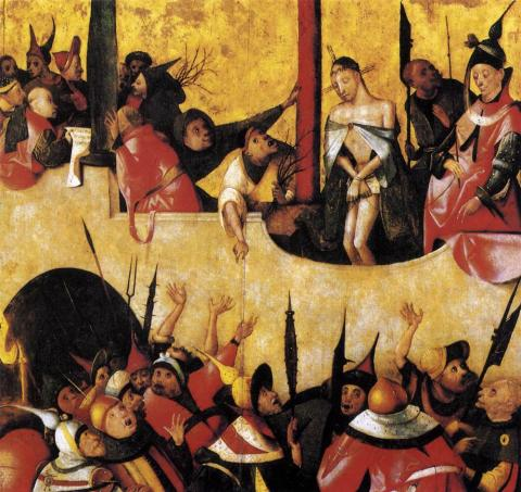Crowd at Jesus Trial - Hieronymus Bosch Trials Visual Arts World History Disasters
