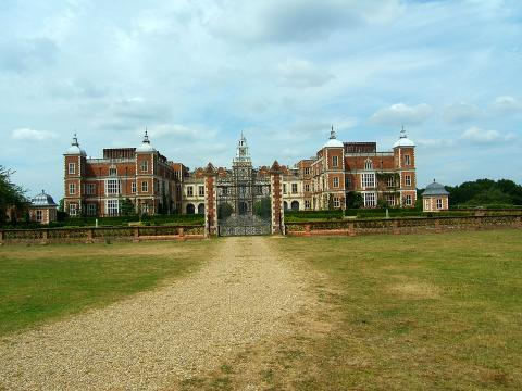 Front View of Hatfield House Geography Social Studies Visual Arts World History Disasters