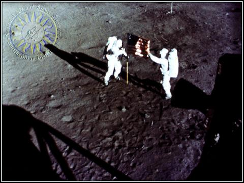 Apollo 11 - American Flag Planted on the Moon American History Famous Historical Events Aviation & Space Exploration STEM Visual Arts