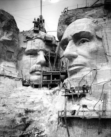 Carving a South Dakota Mountain with Dynamite American History American Presidents Geography Visual Arts World History