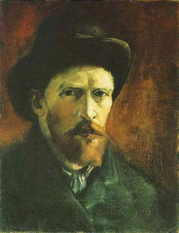 Self-Portrait with Dark Felt Hat Visual Arts Nineteenth Century Life Tragedies and Triumphs