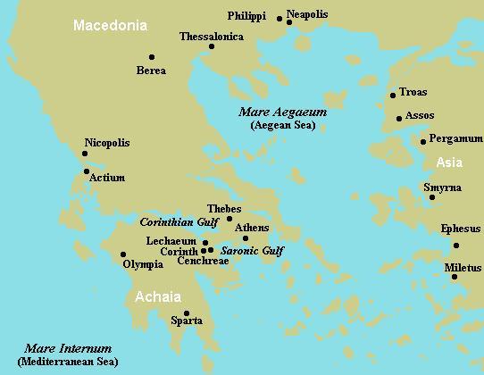 Corinth Its Location In Greece - Greece location