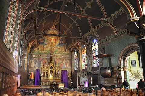 Bruges - Interior of Medieval Church Geography Medieval Times Philosophy Visual Arts