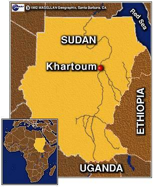 Map of Sudan Geography World History
