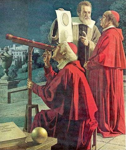 Galileo with two Cardinals Famous Historical Events Famous People Aviation & Space Exploration STEM Astronomy Visual Arts