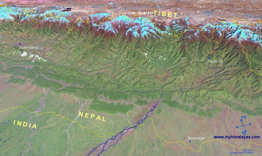 NepalTibet Map