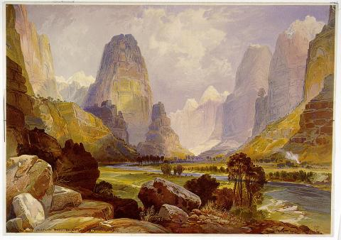 Valley of Babbling Waters - by Thomas Moran World History American History Archeological Wonders Geography Visual Arts