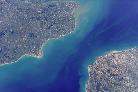 English Channel - View from Space Social Studies Aviation & Space Exploration Visual Arts World War II Geography
