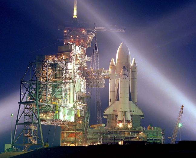 """On April 12, 1981, the Space Shuttle Columbia"