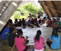Traditional Gathering of Students at Ka'ala Farms