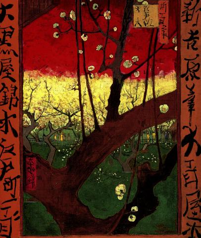 van Gogh Copies Hiroshige - Plum Tree Social Studies Tragedies and Triumphs Nineteenth Century Life Visual Arts
