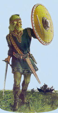 Anglo-Saxon Warrior - Thegn (Illustration) Ancient Places and/or Civilizations Legends and Legendary People Visual Arts