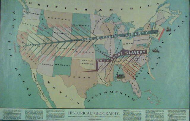 Slavery In America DividingLine Map - Us slavery map