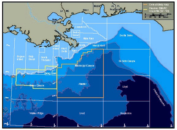 Mississippi Canyon Location In The Gulf Of Mexico
