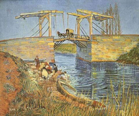 Langlois Bridge at Arles with Women Washing Social Studies Tragedies and Triumphs Visual Arts Nineteenth Century Life