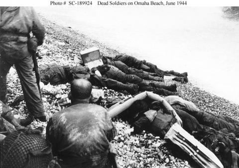 Dead Soldiers on Omaha Beach Famous Historical Events World War II Visual Arts